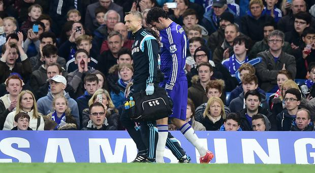 Diego Costa succumbed to more hamstring woe shortly after coming on as a substitute