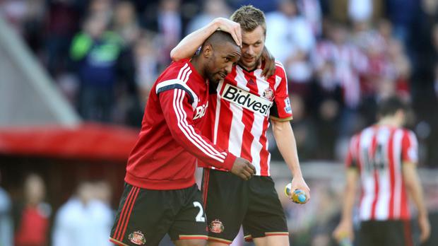 Jermain Defoe, left, was the hero on Wearside