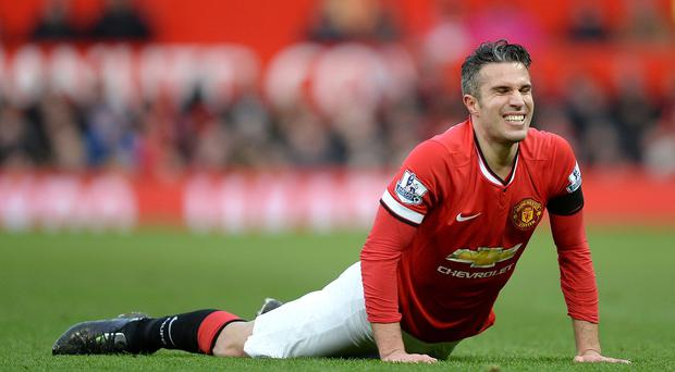 Van Persie suffered ankle ligament damage in United's defeat to Swansea and has not played since
