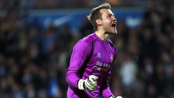Liverpool goalkeeper Simon Mignolet, pictured, insists no-one is thinking about an FA Cup final send-off for Steven Gerrard