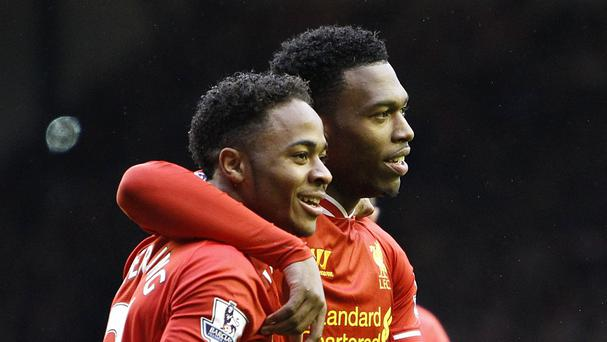 Liverpool striker Daniel Sturridge, right, believes Raheem Sterling's happiness is linked to regular football not money