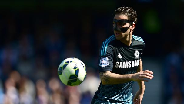 Cesc Fabregas, pictured, scored the winning goal for league-leaders Chelsea