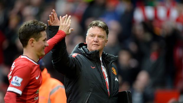 Louis van Gaal, pictured right, feels Manchester United fans will have a night to remember