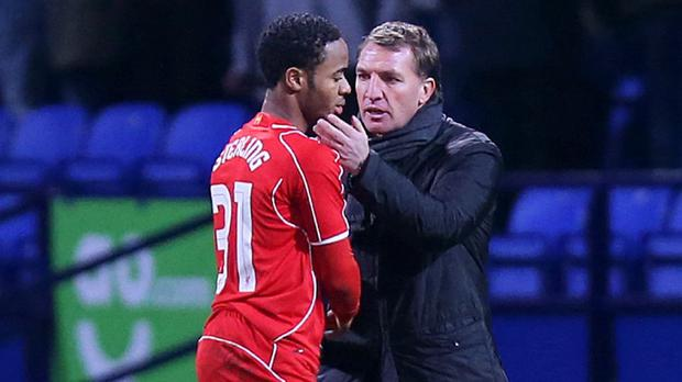 Brendan Rodgers, right, will speak to Raheem Sterling, left, over the latest controversy surrounding the player