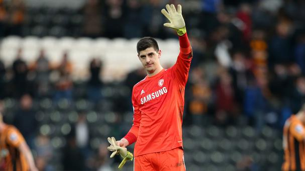 Thibaut Courtois is excited by the prospect of winning the double with Chelsea