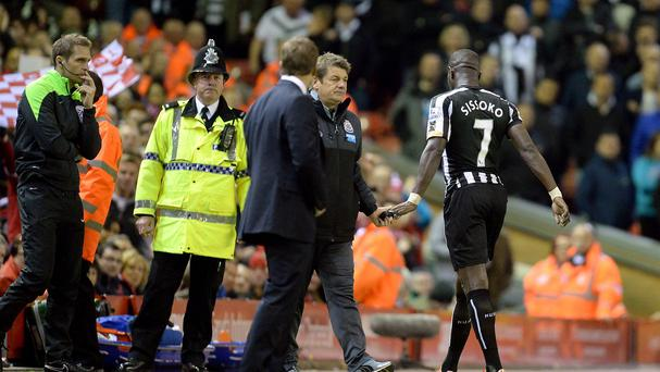 John Carver, centre, has ordered his players to improve their discipline after stand-in skipper Moussa Sissoko became the latest to see red