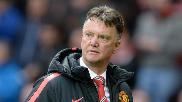 Quick on the draw: Manchester United boss Louis Van Gaal