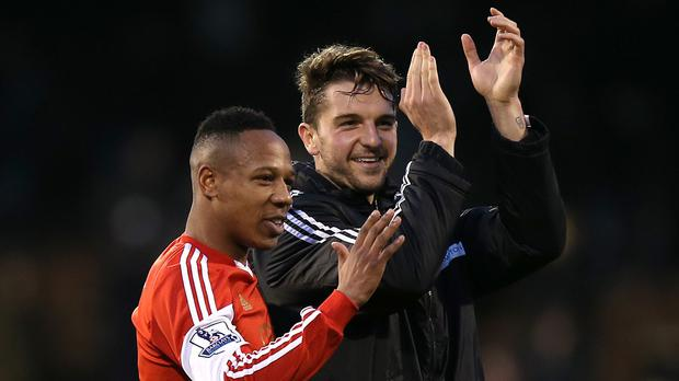 Nathaniel Clyne, pictured left, and Jay Rodriguez, right, have been regularly linked with moves away from Southampton