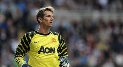 Edwin Van der Sar spent six years at United