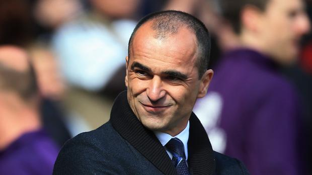 Everton manager Roberto Martinez will get to run the rule over Crusaders starlet Gavin Whyte