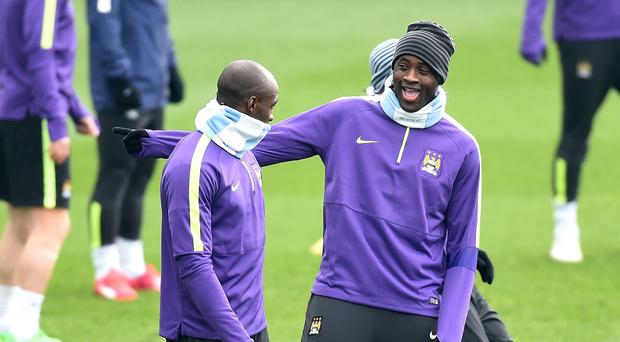 Manchester City's Yaya Toure, right, said he is open to new challenges