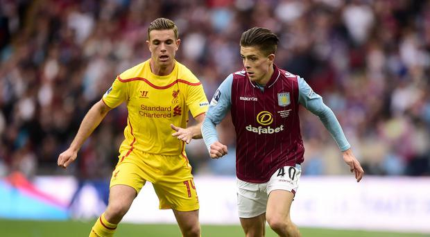 Jack Grealish, right, starred in Aston Villa's FA Cup semi-final win over Liverpool last week