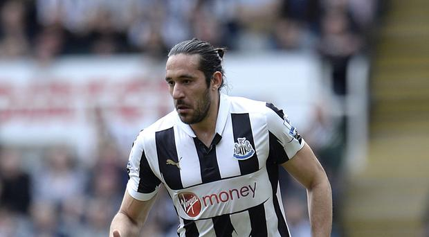 Newcastle midfielder Jonas Gutierrez will return to the squad for Saturday's Barclays Premier League clash with Swansea after settling his differences with head coach John Carver