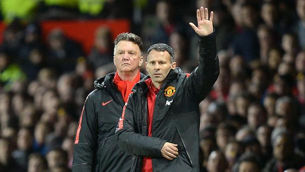 Louis van Gaal, left, believes his assistant should step into his role when he leaves Manchester United