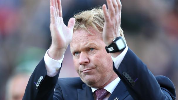 Southampton manager Ronald Koeman is happy on the south coast