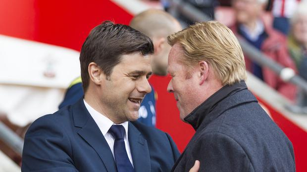 Mauricio Pochettino, left, went head-to-head with Ronald Koeman at St Mary's