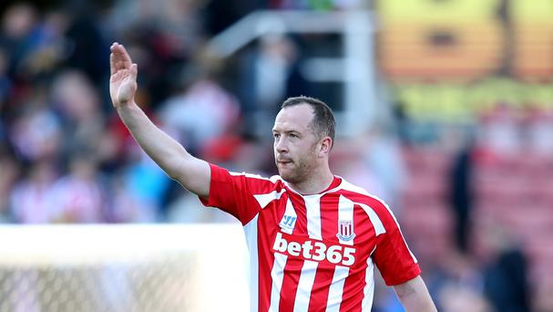Charlie Adam, pictured, was on target for Stoke