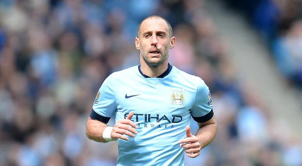 Manchester City defender Pablo Zabaleta was pleased to claim three points against Aston Villa