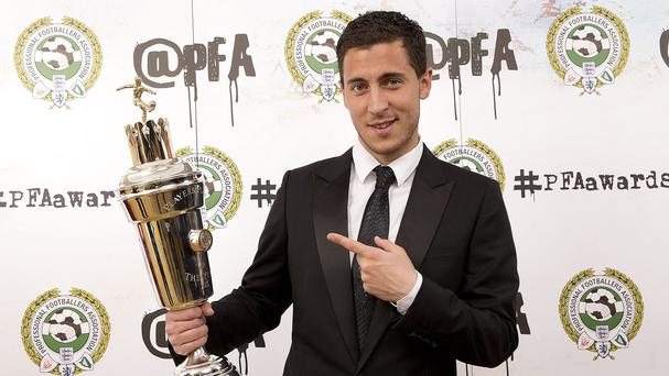 Eden Hazard was voted the PFA Player of the Year