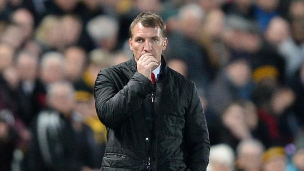 Brendan Rodgers saw Liverpool suffer a costly defeat at Hull