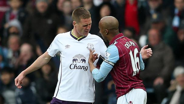 Fabian Delph produced another all-action display against Everton