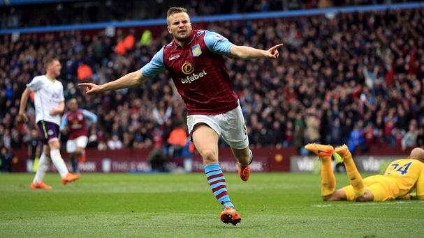 Tom Cleverley scored Aston Villa's crucial third goal in their victory over Everton