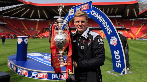 Eddie Howe led Bournemouth to the Premier League for the first time