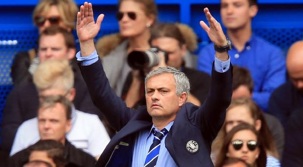 Jose Mourinho, pictured, does not believe he will be able to match Sir Alex Ferguson's 13 Premier League titles