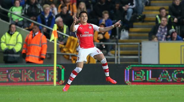 Alexis Sanchez scored twice as Arsenal claimed three points at Hull