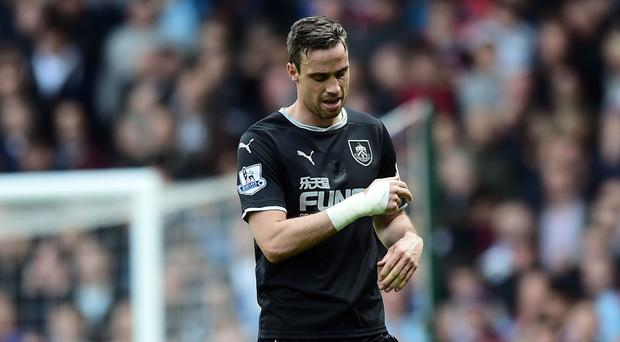Burnley have appealed against Michael Duff's red card