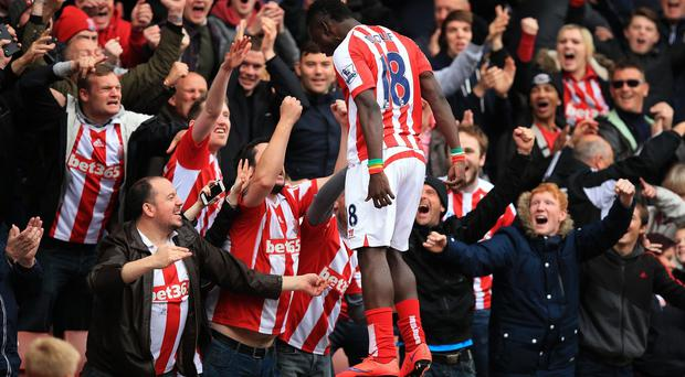 Mame Diouf rounded off Stoke's thumping victory