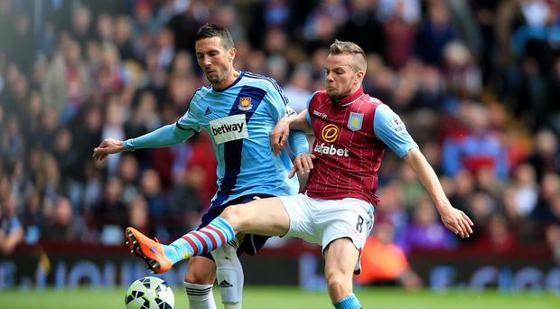 Tom Cleverley, right, scored the winner for Aston Villa
