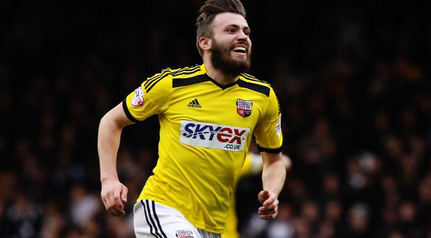 Premier ambition: Stuart Dallas is hoping to help Brentford seal a place in the top flight of English football
