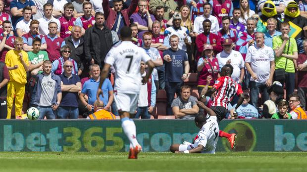 Sadio Mane scored three times in the space of just two minutes and 56 seconds against Aston Villa