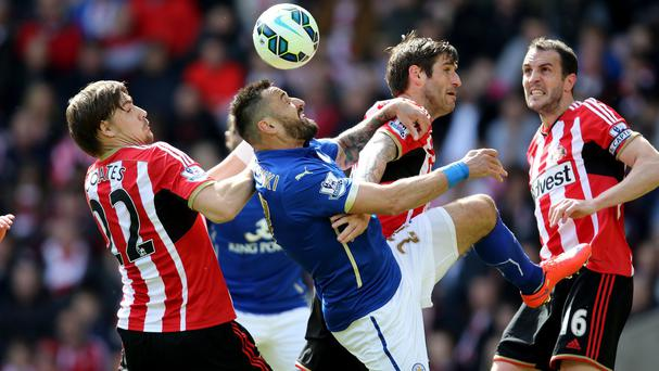 Leicester drew 0-0 at Sunderland to retain their place in the Premier League