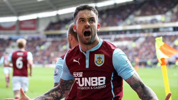 Burnley's Danny Innings is set to be out of contract in the summer