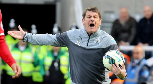 John Carver is hoping one last push can help Newcastle secure their Premier League status