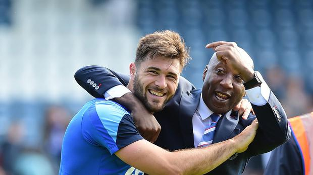 Chris Ramsey, right, hopes to secure the QPR manager's job on a long-term basis