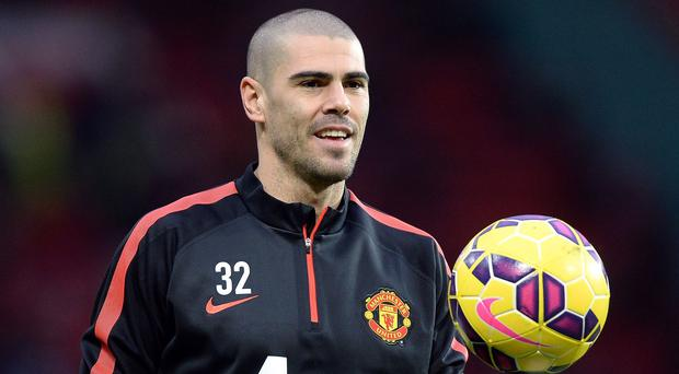 Victor Valdes had to wait four months before making his Manchester United debut on Sunday