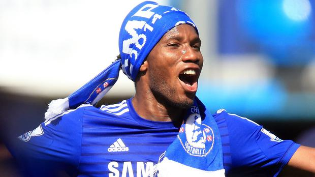 Didier Drogba signs off in style after Chelsea won the league title this season