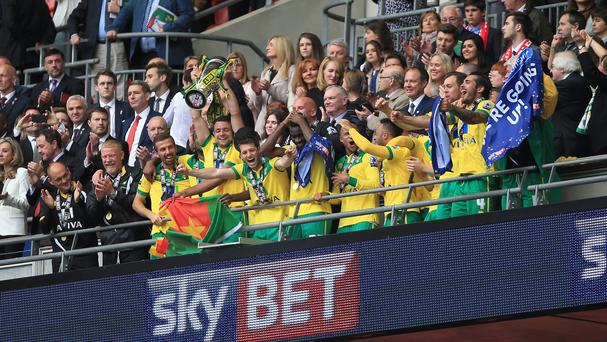 Norwich won the Sky Bet Championship play-off final at Wembley