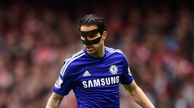Cesc Fabregas has been playing in a mask recently
