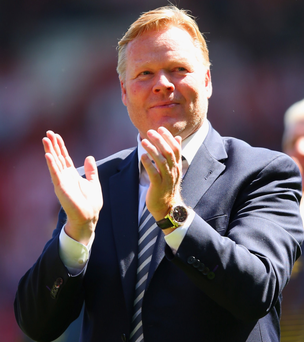 Top boss: Ronald Koeman gets my Manager of the Year vote for the fantastic work he has done with the Saints