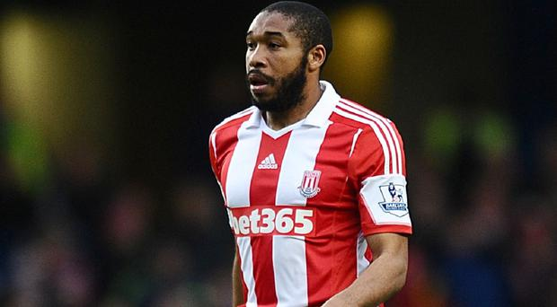 Wilson Palacios on a rare outing for Stoke at Chelsea in January 2014