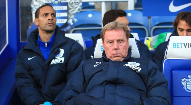 Harry Redknapp, right, thinks Rio Ferdinand, left, would be a good appointment at West Ham
