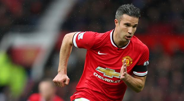 Robin van Persie scored 10 goals in 27 Premier League appearances for Manchester United in the 2014-15 season