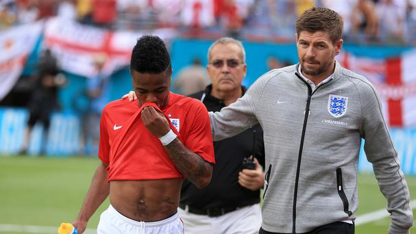 Steven Gerrard, right, fears for Raheem Sterling's future if he leaves Liverpool