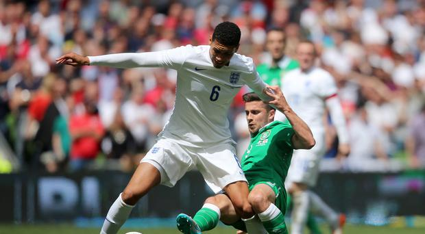 Chris Smalling, left, helped England keep a clean sheet against the Republic of Ireland in Dublin