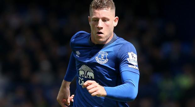 Ross Barkley, pictured, has been studying YouTube clips of fellow midfielders Yaya Toure and Mesut Ozil
