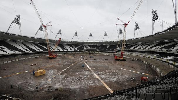 The London 2012 Olympic Stadium has been redeveloped ahead of West Ham's move for the 2016/2017 season
